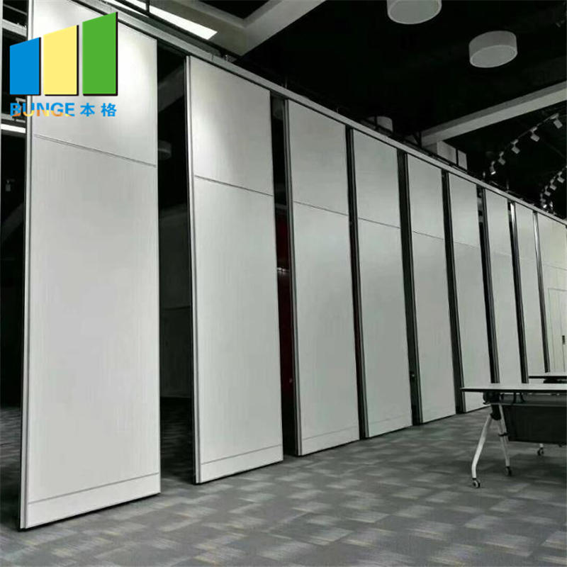 Banquet Hall Soundproof mdf Room Separation Wood Folding Partition Wall Myanmar