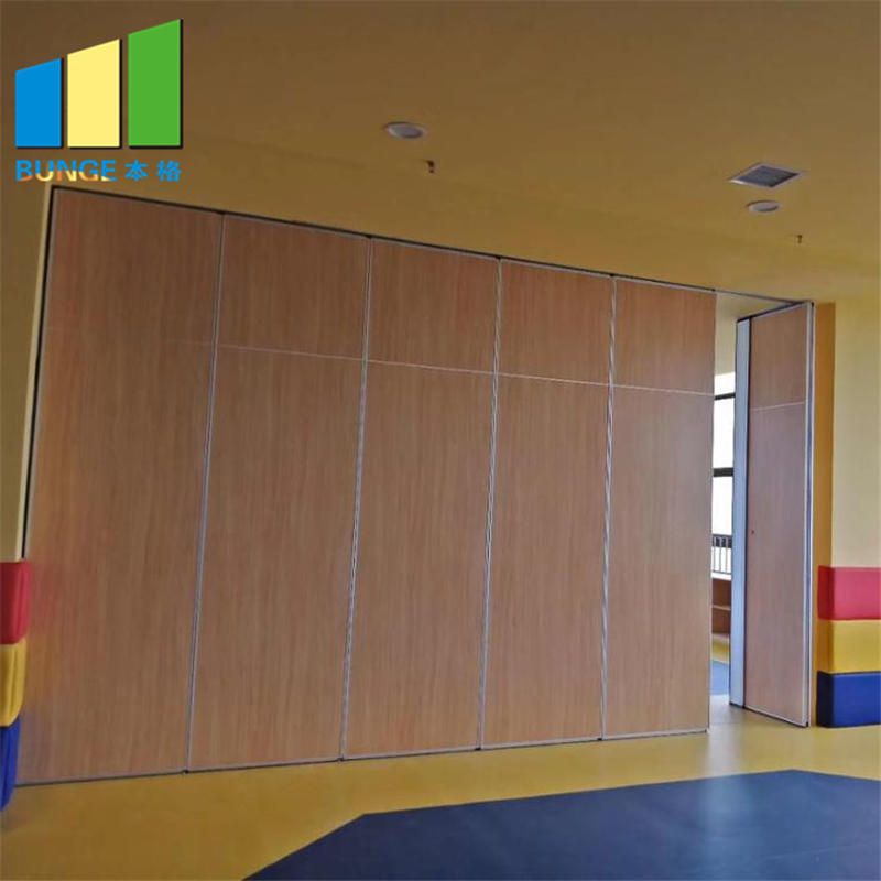 product-EBUNGE-Folding Sliding MDF Meeting Room Partitions Banquet Hall Soundproof Operable Partiti