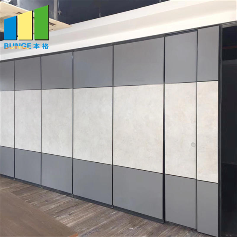 Folding Sliding MDF Meeting Room Partitions / Banquet Hall Soundproof Operable Partition Walls