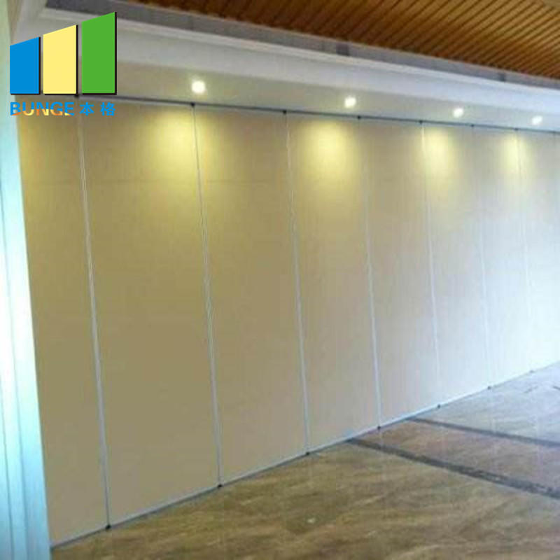 Ceiling Hung Acoustic Classroom Meeting Room Folding Door Fabric Partitions Philippines-movable wall- folding partition-operalbe wall-EBUNGE