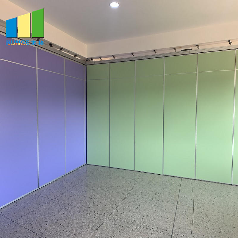 Banquet Hall Acoustic Movable Walls Hotel Soundproof Mobile Sliding Folding Wall Partitions-EBUNGE
