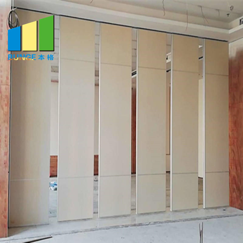 Aluminum Collapsible Sliding Wall Partition Door School Classroom Sound Proof Partition System-EBUNGE