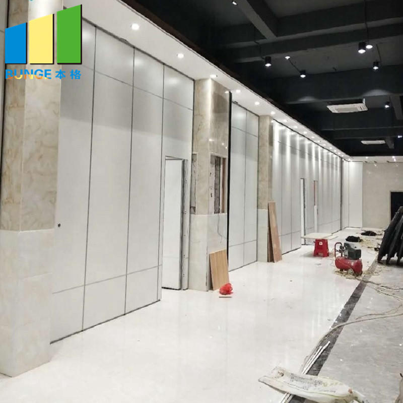Commercial Soundproof Sliding Partition Wall Cambodia Folding Movable Partition Door for Office-movable partition door-EBUNGE