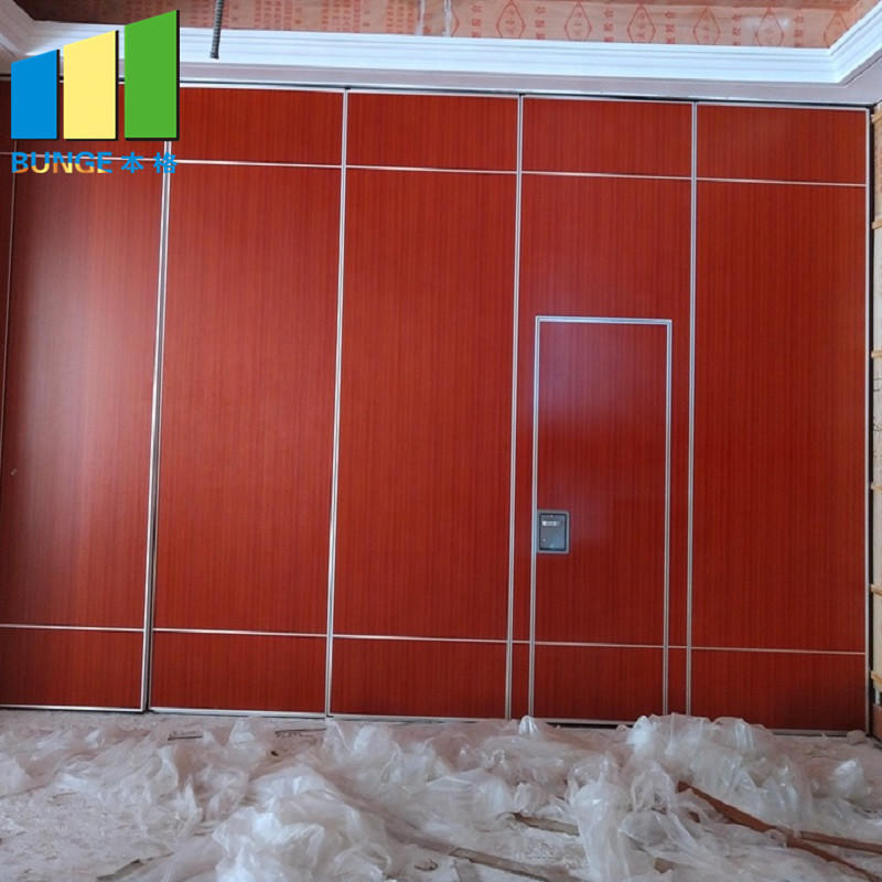product-EBUNGE-Commercial Soundproof Sliding Partition Wall Cambodia Folding Movable Partition Door