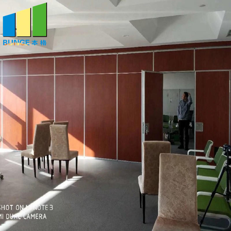 Commercial Soundproof Sliding Partition Wall Cambodia Folding Movable Partition Door for Office-EBUNGE