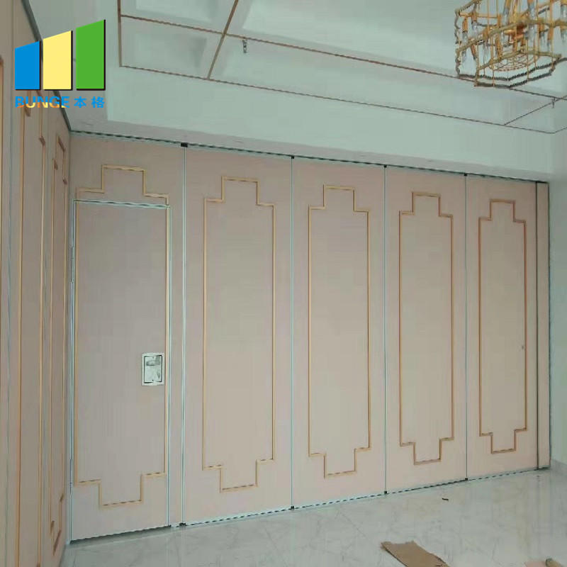 Fabric Acoustic Movable Wall System Davao Foldable Sliding Partition for Meeting Room