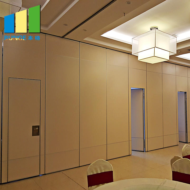 Lightweight Office Sliding Removable Walls Conference Room Foldable Mobile Acoustic Partition Walls