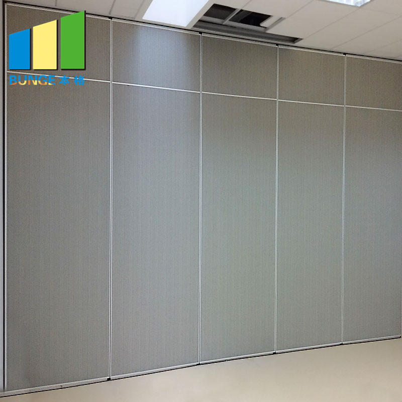 Mobile Acoustic Room Dividing System Soundproof Sliding Foldable Removable Wall Partitions for Office