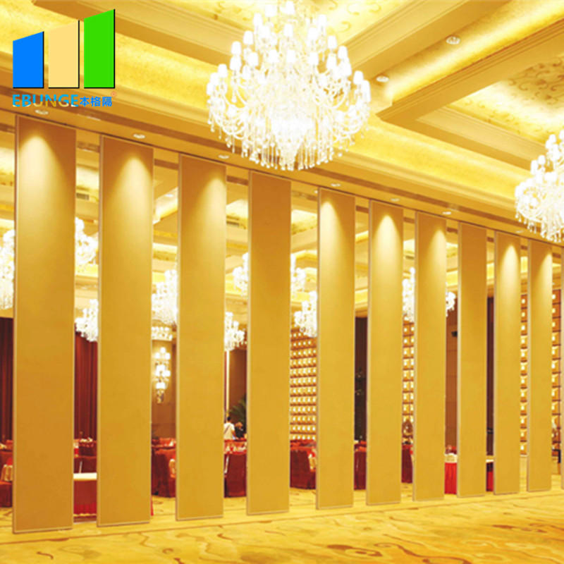 Sliding folding partition in room partition board melamine movable wooden partition wall for banquet