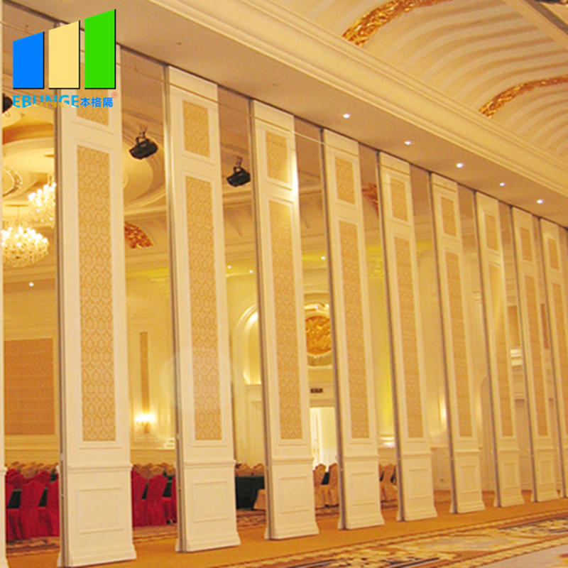 product-EBUNGE-Sliding folding partition in room partition board melamine movable wooden partition w
