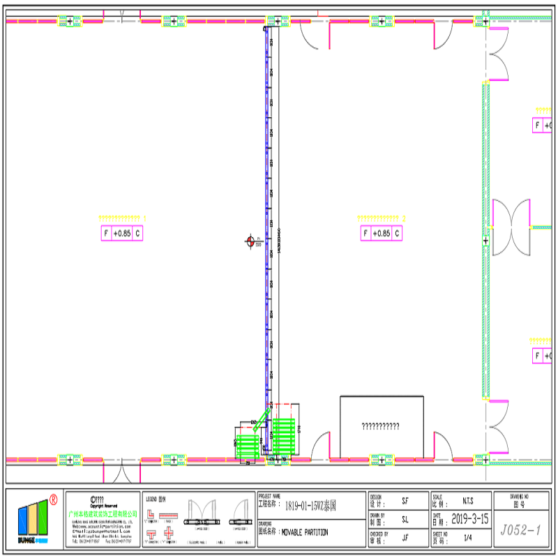 news-EBUNGE-Congratulation for the foldable movable partition walls project in Thailand-img
