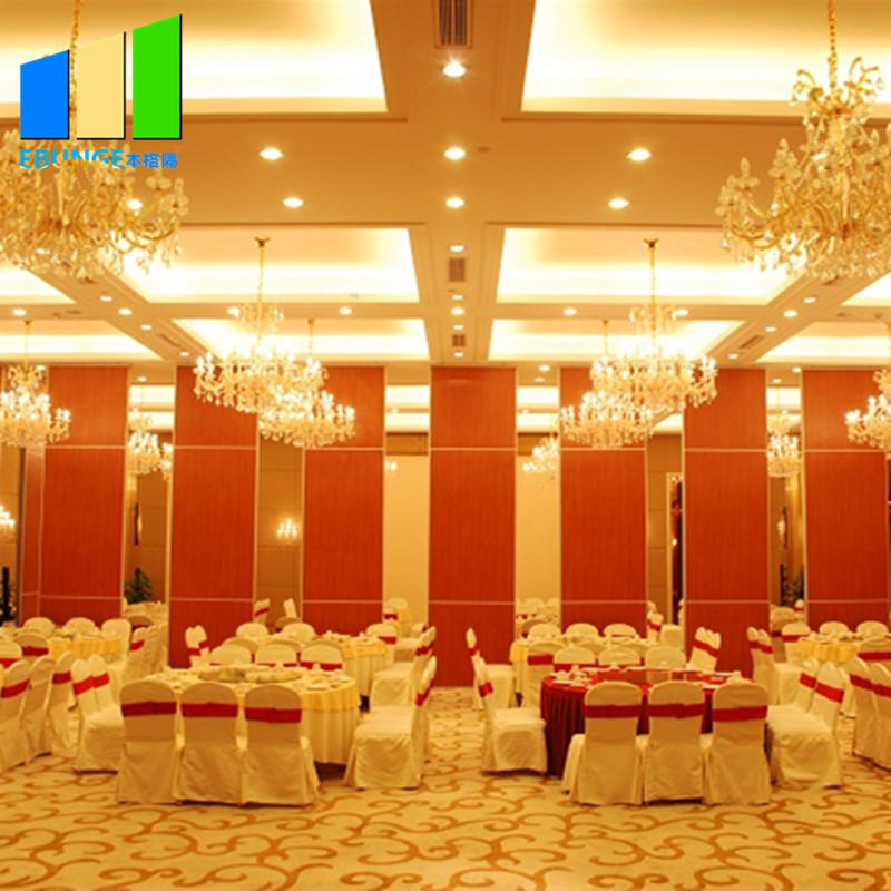 Movable partition wall bearing aluminum track partition wall board interior wooden partition wall for banquet