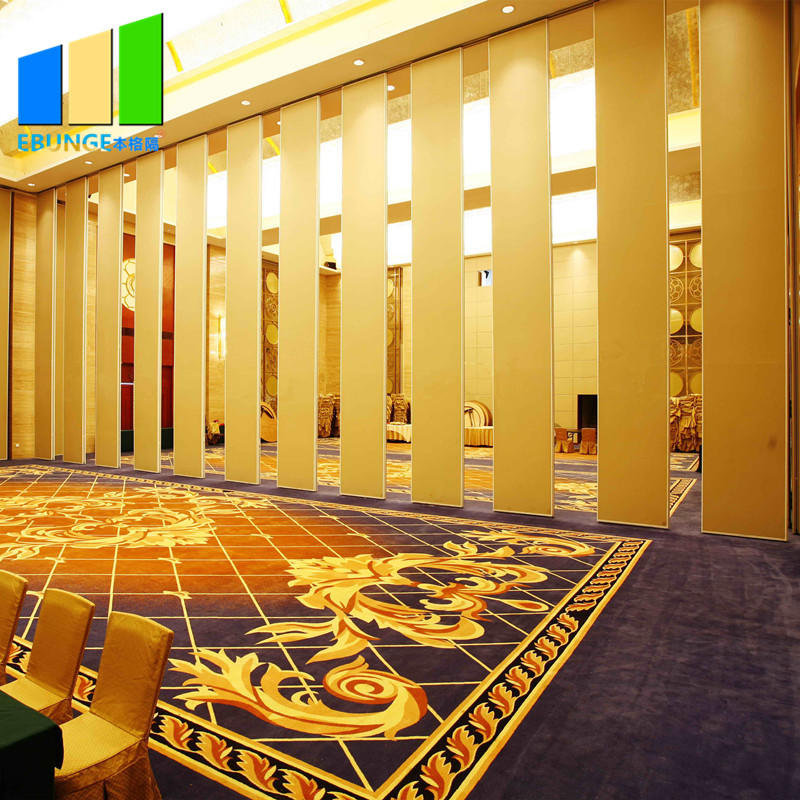 Movable partition wall attachment operable mobile wall accordians sliding door for banquet-EBUNGE
