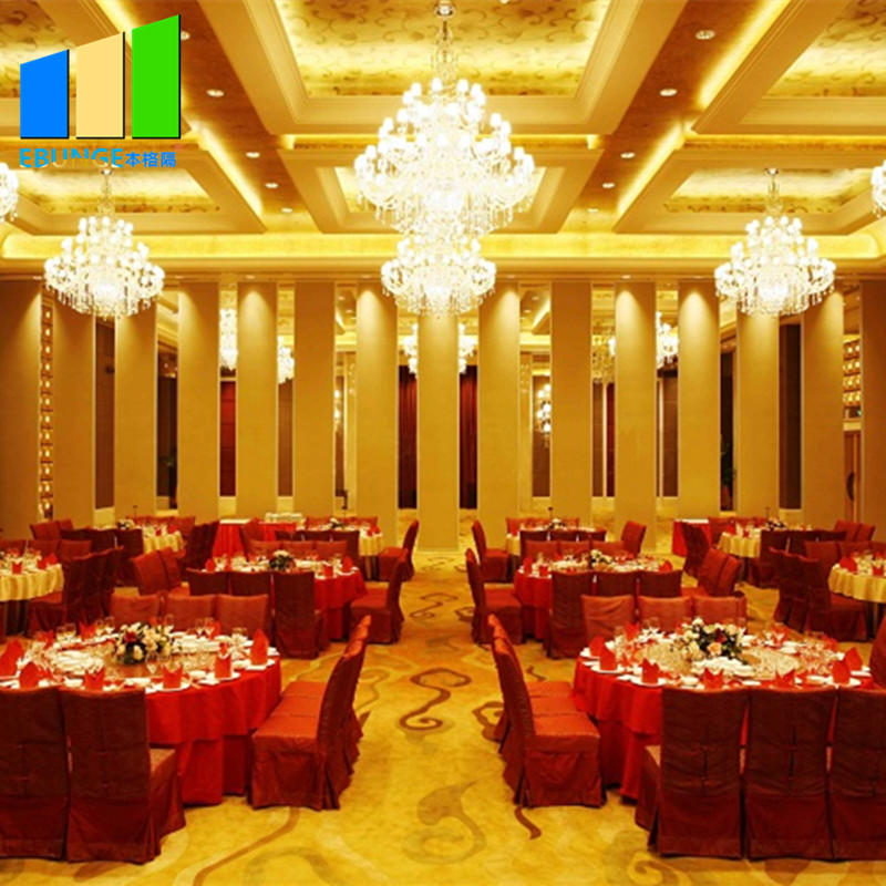 Movable partition wall attachment operable mobile wall accordians sliding door for banquet