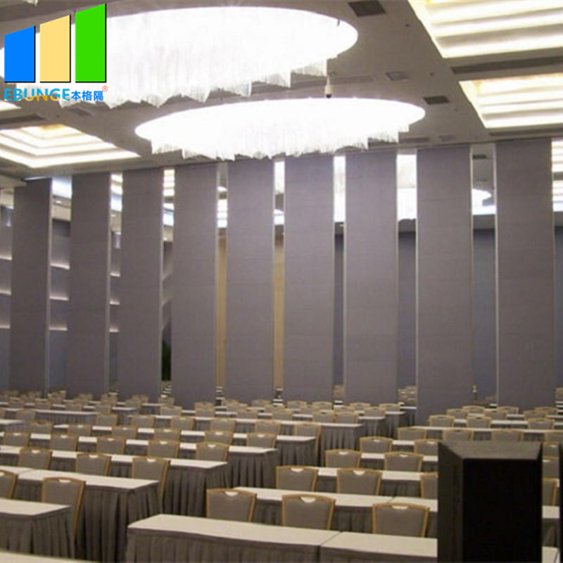 Foldable room divider operable office partition wall movable sound proof partition wall for conference center