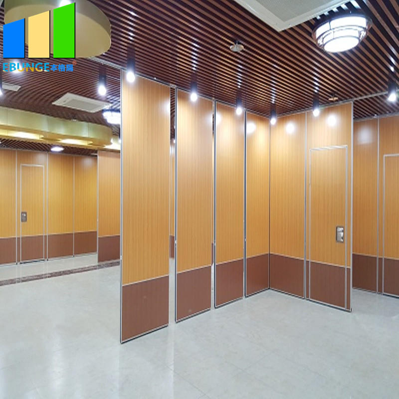 Folding door aluminum partition in saudia arabia soundproof folding moving partition aluminum frame