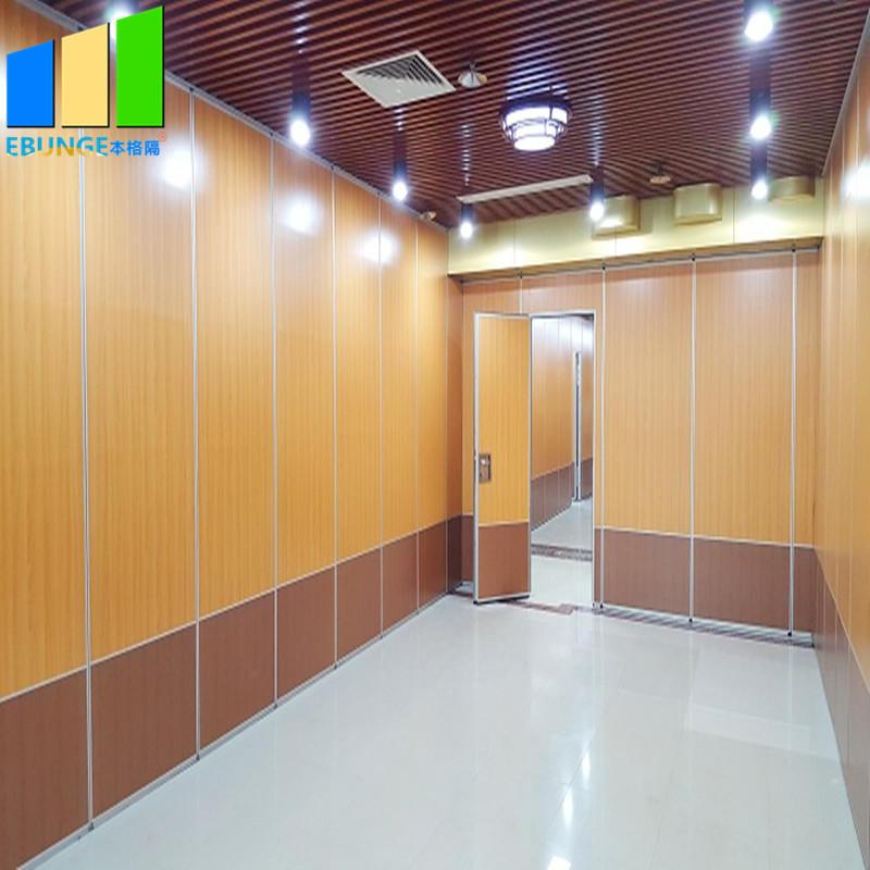 Folding door aluminum partition in saudia arabia soundproof folding moving partition aluminum frame-EBUNGE