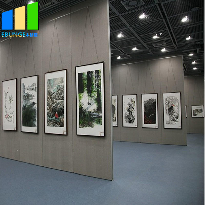 Decorative partition wall with shutter movable partition in bahrain for exhibition hall