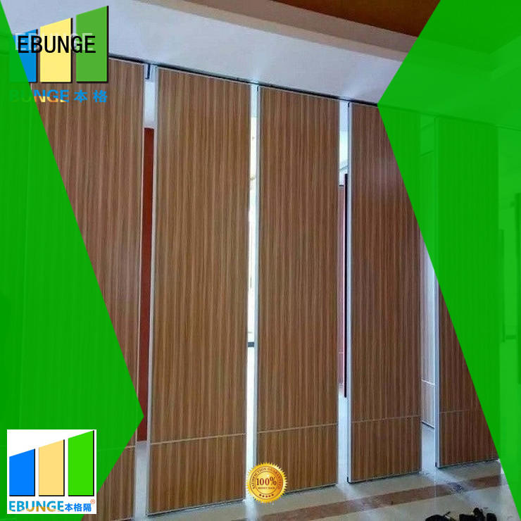 EBUNGE soundproof interior partition wall manufacturer for function hall