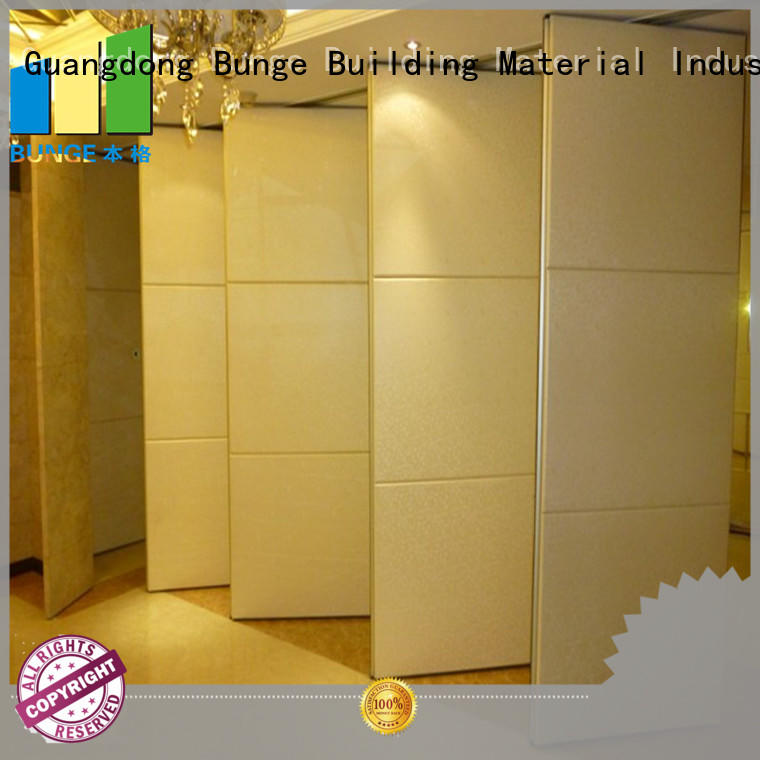 EBUNGE modern movable partition wall double passdoor for hotel