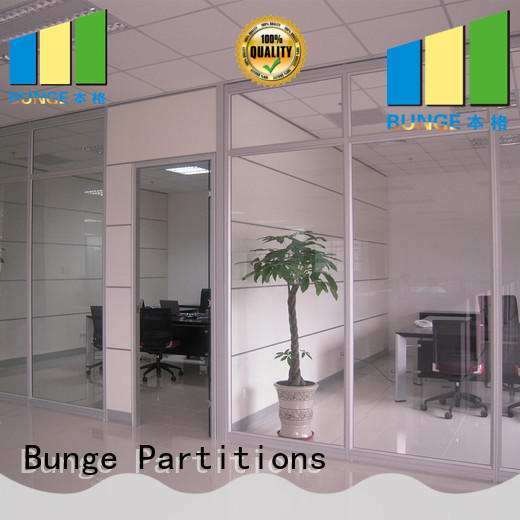 EBUNGE solid glass partition supplier for conference room