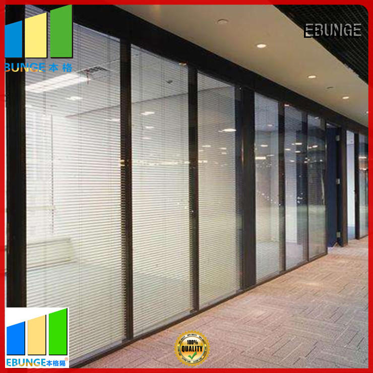 EBUNGE glass door divider factory direct supply for shop