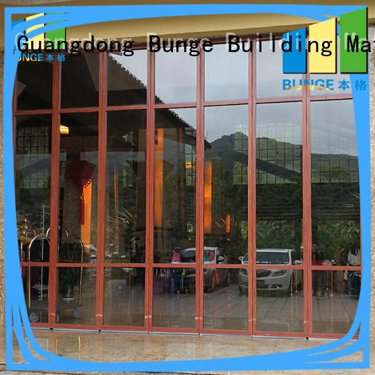Hot glass partition aluminium Bunge Brand
