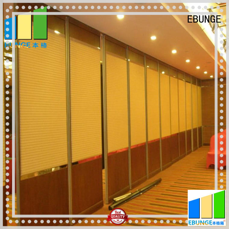 EBUNGE operable partition walls supplier for banquet hall