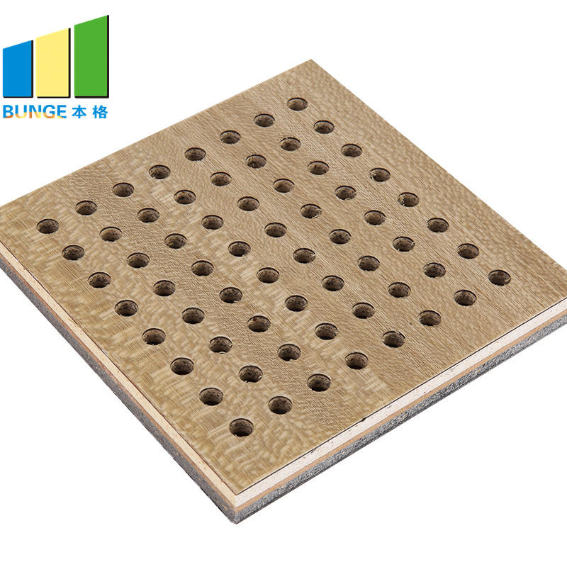 Bunge-Find Sound Insulation Panels Fireproof Perforated Wooden Acoustic Panels