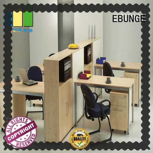 wooden office cubicle furniture white for meeting room EBUNGE