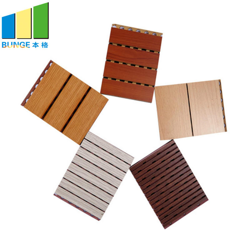 Bunge-Best Acoustic Panels Cheap Fireproof Veneer Ceiling Sound Absorbing Wall-1