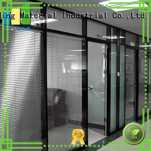 EBUNGE frameless glass wall supplier for shop