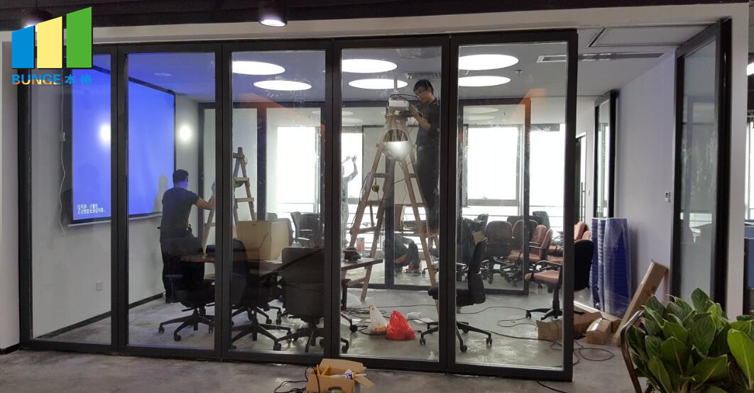 Bunge-Manufacturer Of Glass Partition Wall Sliding Aluminium Frame Office
