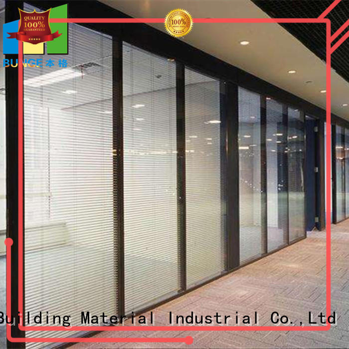 glazed glass partition wall with door supplier for banquet hall