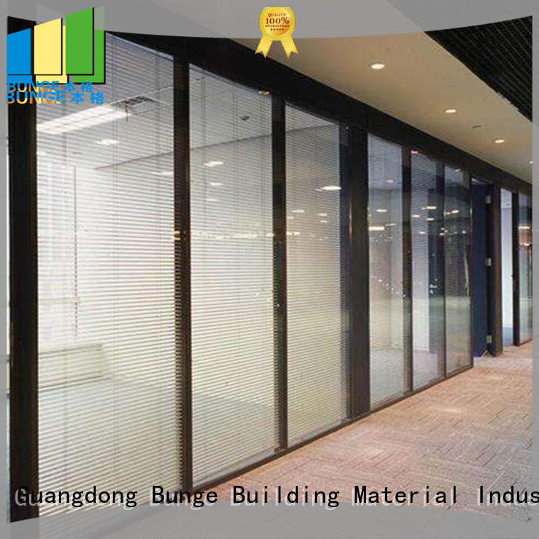 EBUNGE decorative tempered glass partition wholesale for office