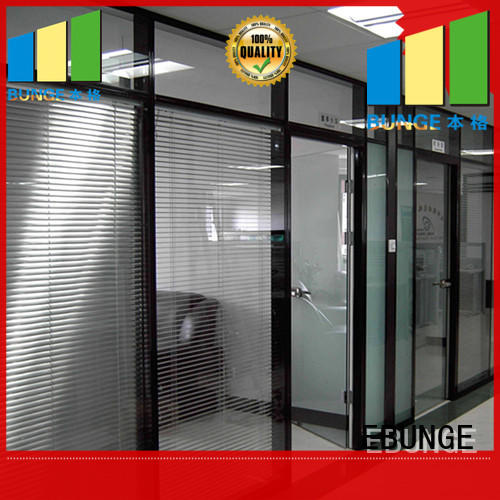 EBUNGE partition wall with glass wholesale for shop
