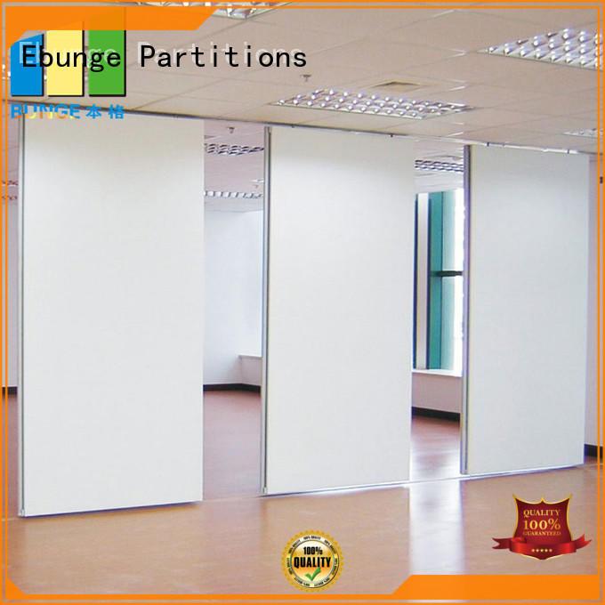 EBUNGE retractable partition door design factory direct supply for auditorium