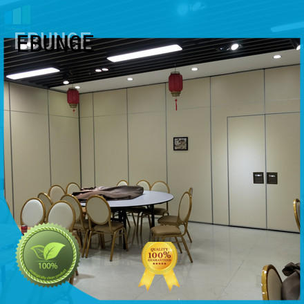 retractable sliding walls residential double passdoor for hotel EBUNGE