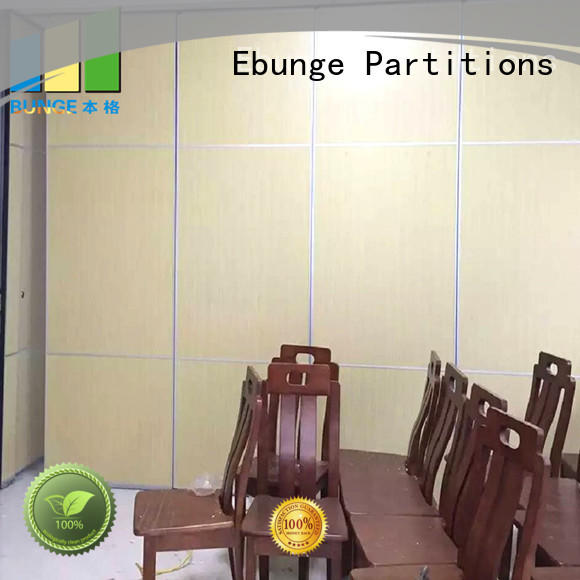 EBUNGE wooden movable walls customized for meeting room