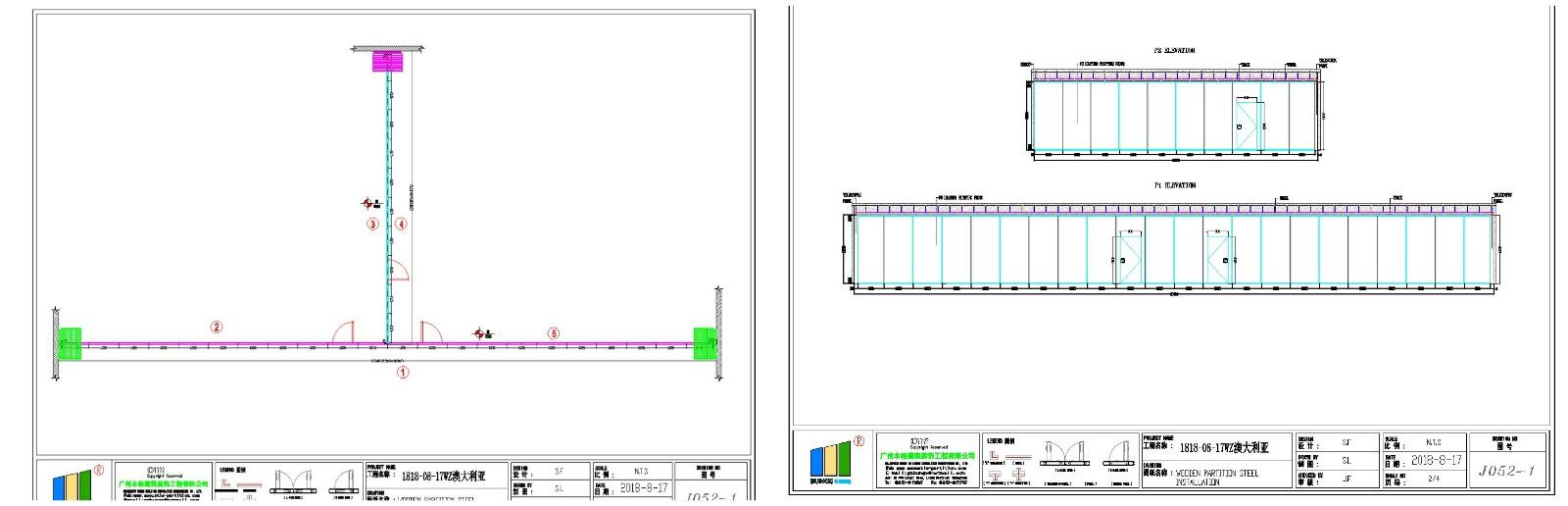 movable interior walls for exhibition centers EBUNGE-2