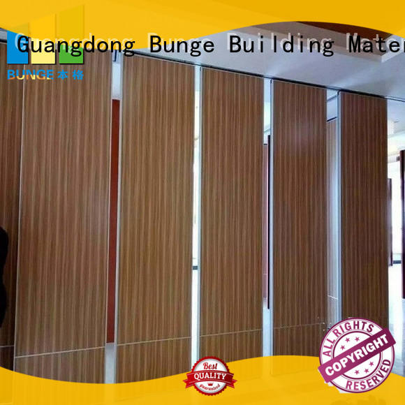 BUNGE wooden temporary movable walls for conference hall