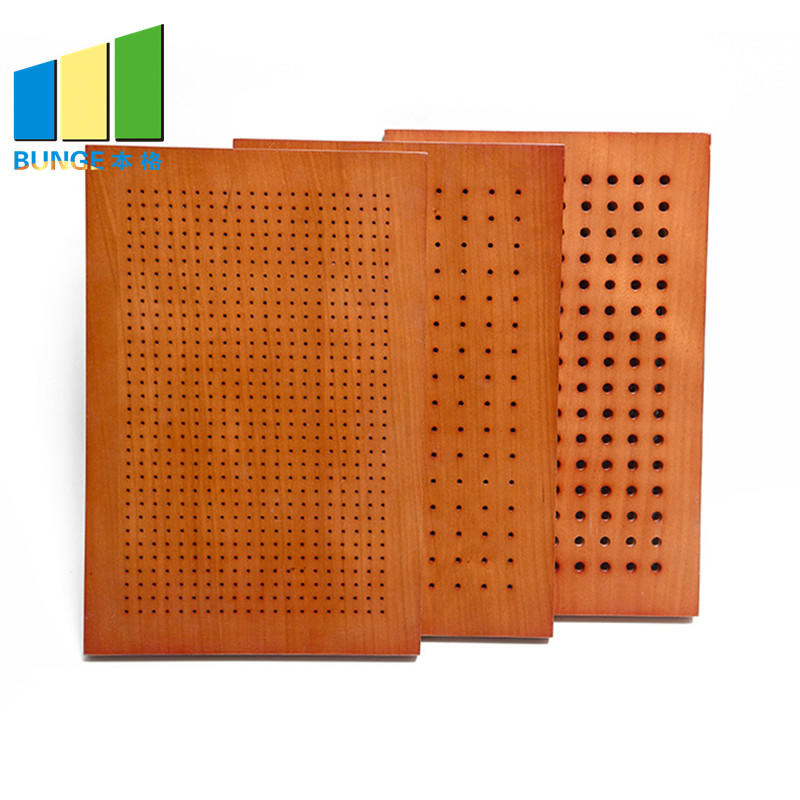 Bunge-Find Noise Reduction Panels Fireproof Perforated Wooden Acoustic