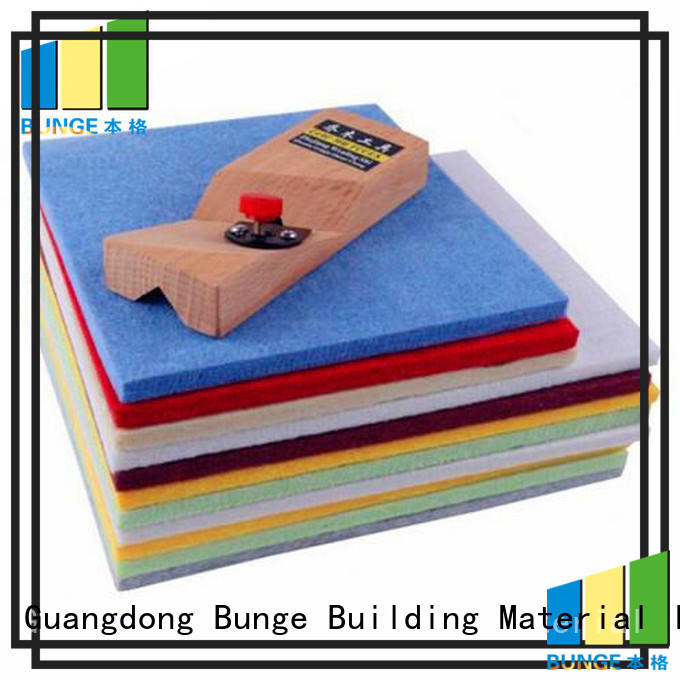 sponge cinema soundproof ceiling panels material Bunge company