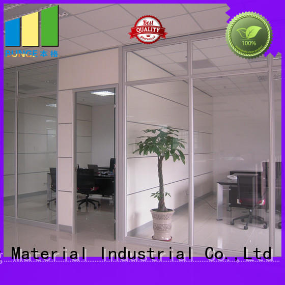 demontable toughened glass partition from China for banquet hall