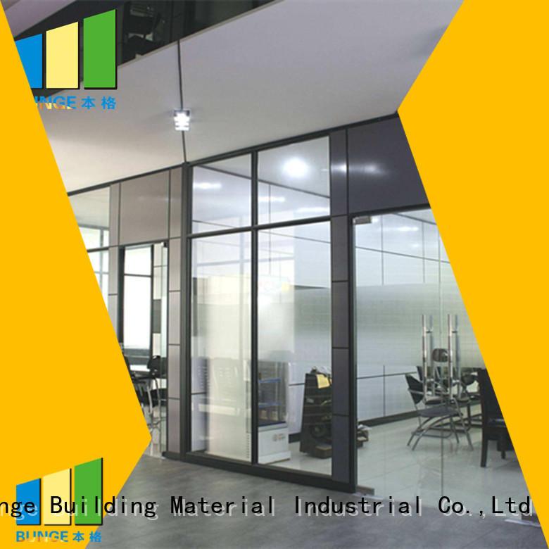 Custom temper alloy office glass partition design Bunge aluminum