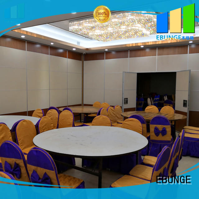 EBUNGE sliding folding partition customized for banks