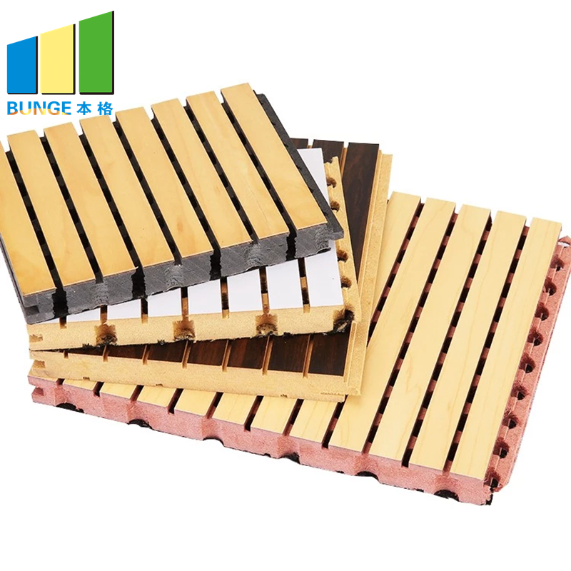 Bunge-Sound Dampening Panels Sound Proof Materials Absorbing Wall Boards Grooved-1