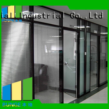 aluminium glass office glass partition design partitions Bunge Brand