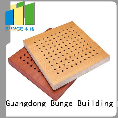 Wholesale mdf sound suppression panels anditordium Bunge Brand