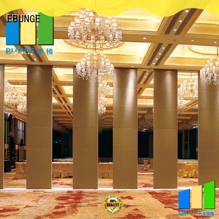 EBUNGE rolling partition wall manufacturer for conference hall